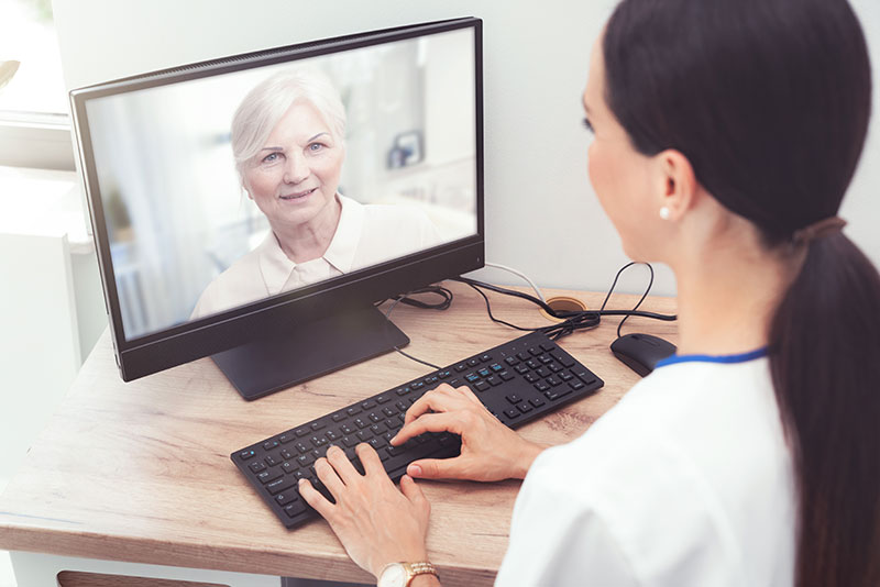 Doctor and patient telehealth